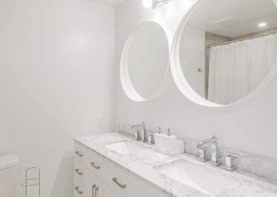 Kanata, complete home renovation, heated floors, drywall, paint, vanity
