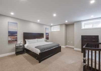 Carp, basement renovation and remodel, bedroom