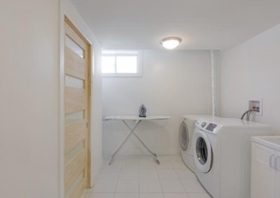 Carp, basement renovation and remodel laundry room