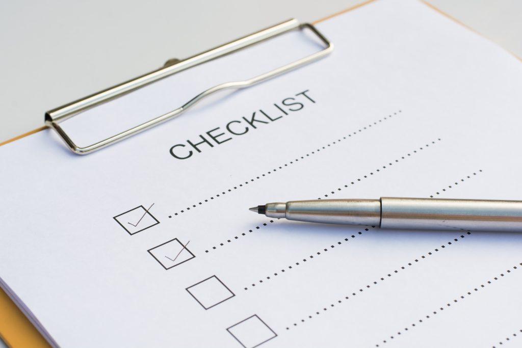 Checklist-Sidding