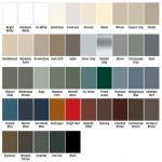 Gentek aluminum colour palette